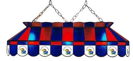 Stupendous Kansas Jayhawks Stained Glass Lamp Kansas Jayhawks Interior Design Ideas Ghosoteloinfo